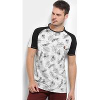 Camiseta Hd Foliage Masculina - Masculino-Off White