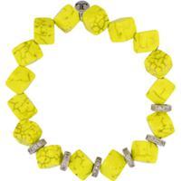 Lord And Lord Designs Pulseira Com Contas - Amarelo