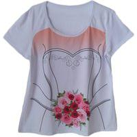 Camiseta Calupa Noiva Buquê Chá Bar Branca