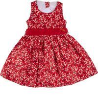 Vestido Infantil Chic Estampado Cerejas - Anjos Baby Chic