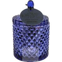 Vela Aromática Em Vidro Bico De Jaca Metalizado Com Tampa Água Profunda