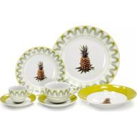 Aparelho De Jantar Porcelana Super White 42 Pçs Pineapple Lyor - Unissex