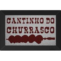 Tapete Capacho Cantinho Do Churrasco Prata