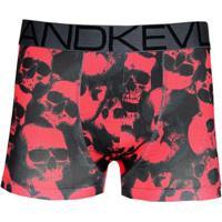 Cueca Boxer Kevland Red Skulls - Masculino