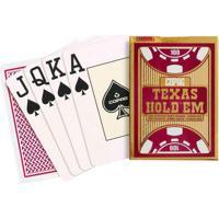 Jogo De Cartas - Baralho Profissional - Texas Hold'Em - Vermelho - Copag 94886