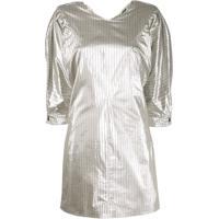 Isabel Marant Pinstriped Mini Dress - Prateado