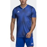 Camisa Tiro 19 Adidas Infantil - Masculino-Azul