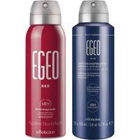 Combo Egeo Desodorante: Desodorante Aerosol Red + Desodorante Aerosol Blue