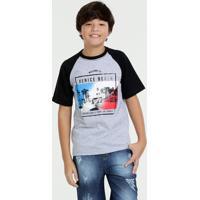 Camiseta Juvenil Estampada Manga Curta Marisa