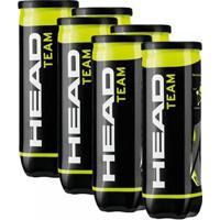 Bola De Tênis Head Team - Pack Com 6 Tubos - Unissex