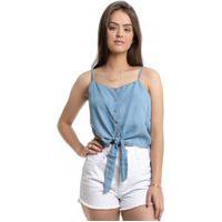 Blusa Pkd Concept Com Amarração Jeans