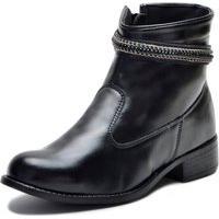 Bota Elegancy Ankle Strapcircle70 Preto