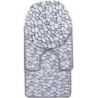 Jogo De Banheiro Soft 3 Peças Pedras