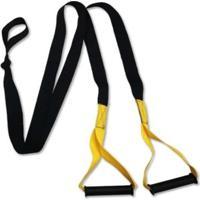 Fita De Suspensão Trx Para Treinamento Suspenso - Unissex-Amarelo+Preto