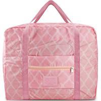 Bolsa De Viagem Dobrável- Rosa & Rosa Claro- 36,5X45Jacki Design
