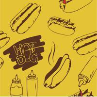 Papel De Parede Adesivo Hot Dog (0,58M X 2,50M)