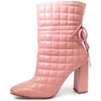 Bota Salto Cano Médio Damannu Shoes Victoria Rosa