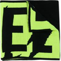 Diesel Kids Echarpe Com Estampa De Logo - Preto