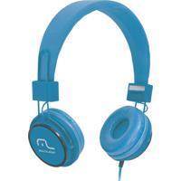 Fone De Ouvido C/ Microfone Headfun Azul - Multilaser