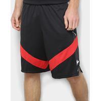 Bermuda Nike Dry Courtlines Masculina - Masculino-Preto+Vermelho