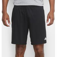 Short Adidas Bermuda Plain Masculina - Masculino-Preto+Branco