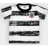 El Cabriton  Camiseta Corinthians Bebê Listras Craqueladas - Masculino f9cf2b81661ba