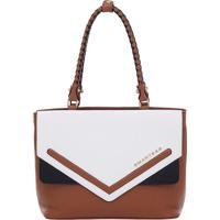 Bolsa Couro Smartbag Tiracolo Caramelo/Branco - 73039.18