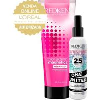 Redken One United + Color Ext Mega Mask Kit - Leave-In + Máscara De Hidratação Kit - Unissex-Incolor