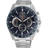 Relógio Seiko Masculino Ssb345B1 D2Sx Cronógrafo Pulseira E Caixa Aço Prateado Mostrador Azul