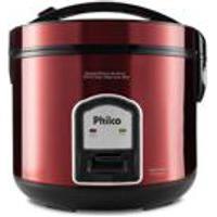 Panela Eletrica De Arroz Philco Ph10 Visor Glass Inox Red 127V