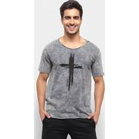 Camiseta Bossa Brasil Cross Masculina - Masculino-Chumbo