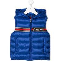 Moncler Kids Colete Com Logo Bargy - Azul