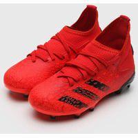 Chuteira Adidas Performance Infantil Predator 21 3 Campo Jr Vermelha