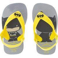 Chinelo Havaianas Baby Heróis Batman Cinza