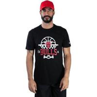 Camiseta New Era Chicago Bulls Nba Masculina - Masculino