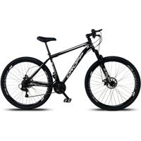 Bicicleta Aro 29 Freio A Disco Mecânico Quadro 19 Suspensão 21 Marchas Aço Preto Branco - Dropp