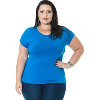 Blusa Miss Masy Plus Caetana Azul