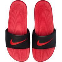 Chinelo Nike Kawa - Slide - Masculino - Vermelho/Preto