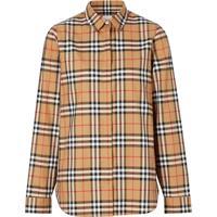 Burberry Camisa De Algodão Com Xadrez Vintage - Marrom