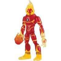 Mini Figura Articulada 10 Cm - Ben 10 - Heatblast - Sunny - Masculino-Incolor