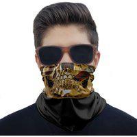 Máscara Bandana Caveira Dourada Charuto Proteção Ciclismo