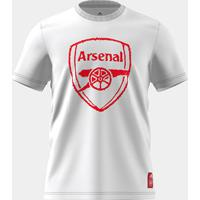 Camiseta Adidas Arsenal Gráfica Masculina - Masculino-Branco