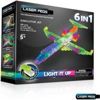 Blocos De Montar Laser Pegs Jato Executivo 6 Em 1 Zippydo Verde