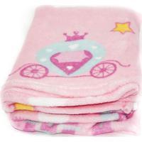Manta De Bebe Microfibra Confort Baby Hazime Princesa Rosa