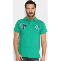 Camisa Polo Polo Up Bordado Masculina - Masculino-Verde