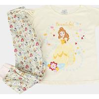 Pijama Infantil Lupo Disney Bela Longo Feminino - Feminino-Amarelo Claro