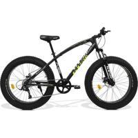 Bicicleta Gts Fat Aro 26 Com Freio A Disco 9 Marchas Câmbio Micronew | Gts M1 Racer Fat - Unissex