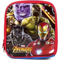 Lancheira Escolar Infantil Xeryus Avengers - Masculino-Estampado