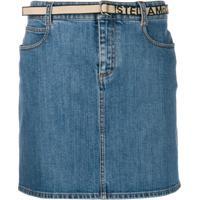 Stella Mccartney Saia Jeans Com Cinto - Azul