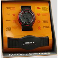 Kit De Relógio Digital Speedo Masculino + Monitor Cardíaco - 80565G0Epnp1 Preto